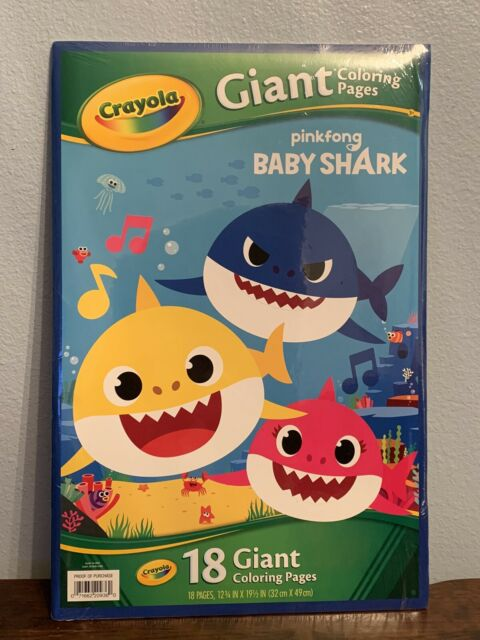 Crayola Baby Shark Giant Coloring Pages for sale online | eBay