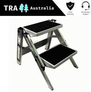 Magnificent Details About Double Folding Caravan Step Portable Rv Accessories Ladder Camper Trailer Parts Alphanode Cool Chair Designs And Ideas Alphanodeonline