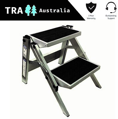 Double Folding Caravan Step Portable Rv Accessories Ladder