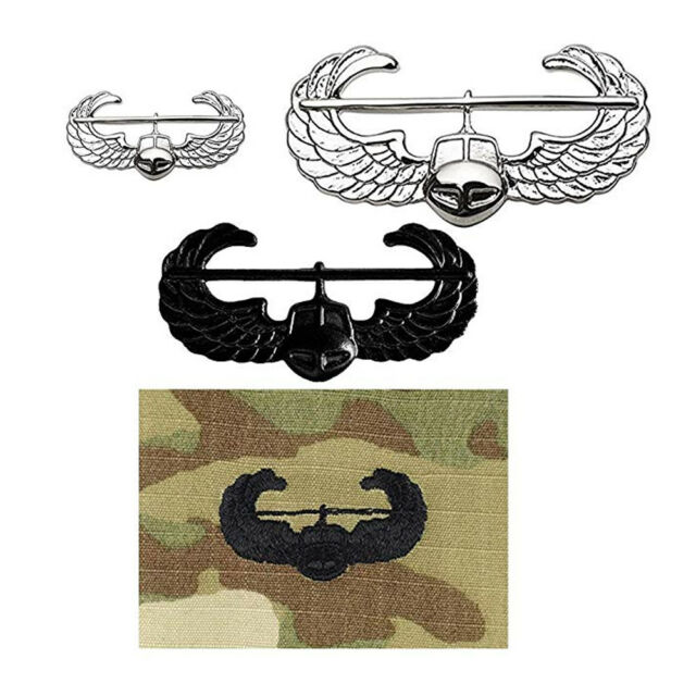 Air Assault Medical Officer Collar Brass Badge Pin US Army Insignia Military Lot