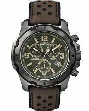 Timex TW4B01600, Men's Expedition Brown Leather Watch, Chronograph, TW4B016009J