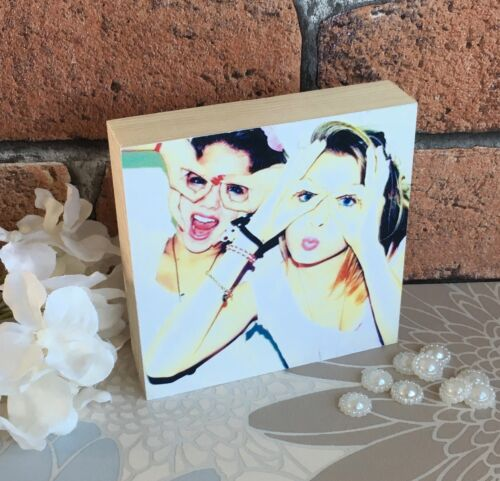 Personalised Handmade Photoblock Best Friends BFF School Unique Keepsake Gift