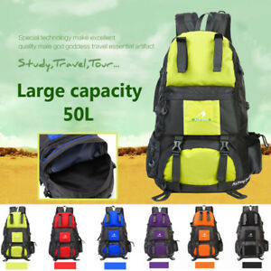 50L-Waterproof-Outdoor-Travel-Mountaineering-Backpack-camping-Bag-Luggage-Pack
