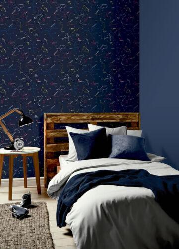 Navy Constellations Wallpaper