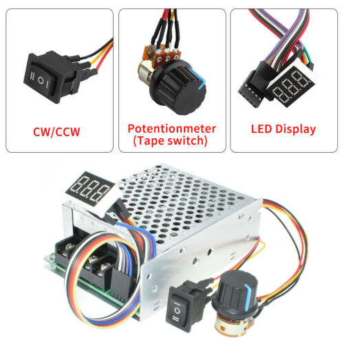 DC 12V 24V 36V 40A PWM Motor Speed Controller CW CCW Revesible Switch Regulator