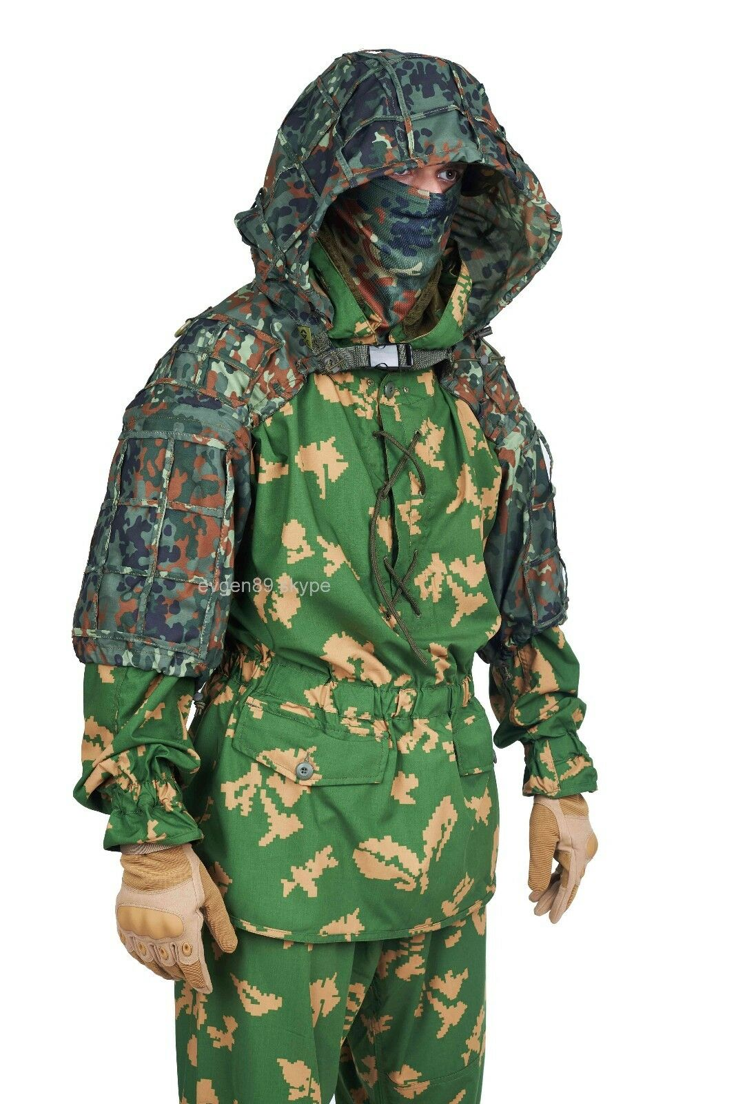 Disguise  Sniper Coat   Viper Hood Russian Spetsnaz Ripstop Flectarn  special offer