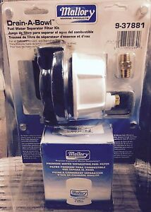 10 Micron Kit Mallory Boat Fuel Water Separator 600-412