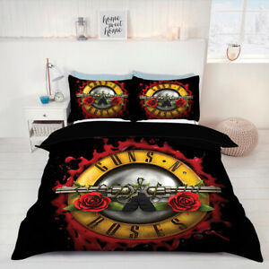 Details about Guns N\' Roses Duvet Cover Set queen King size comforter for  cover bed set