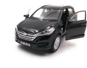 Hyundai-Tucson-SUV-Black-Model-Car-With-Desired-License-Plate-Scale-1-3-4