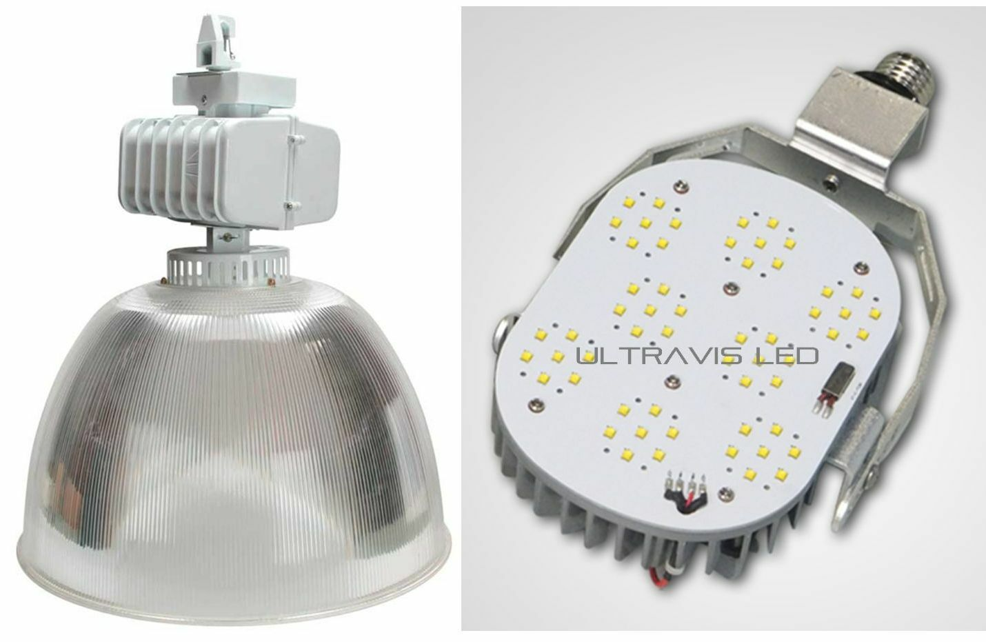 UltraVis 100W CREE LED High Bay Warehouse Retrofit Light, 5K Daylight, UL & DLC