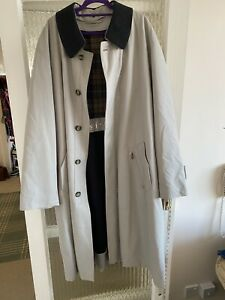 Austin Reed Mens Overcoat Trench Lined Coat Size 40l Ebay