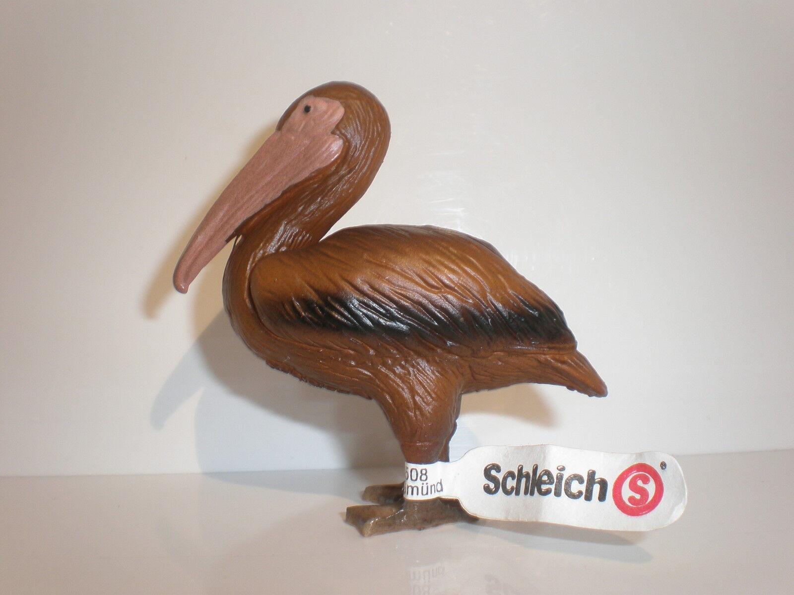 14173 Schleich  marrón Pelican   with tag  ref 18P2