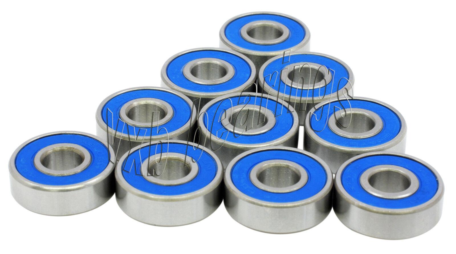 10 Bearing 623-2RS 3x10 Sealed 3x10x4 Miniature Ball Bearings 845