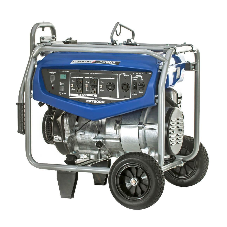 Yamaha EF7200D 7200 Watt Gas Powered Portable RV Camping Hom