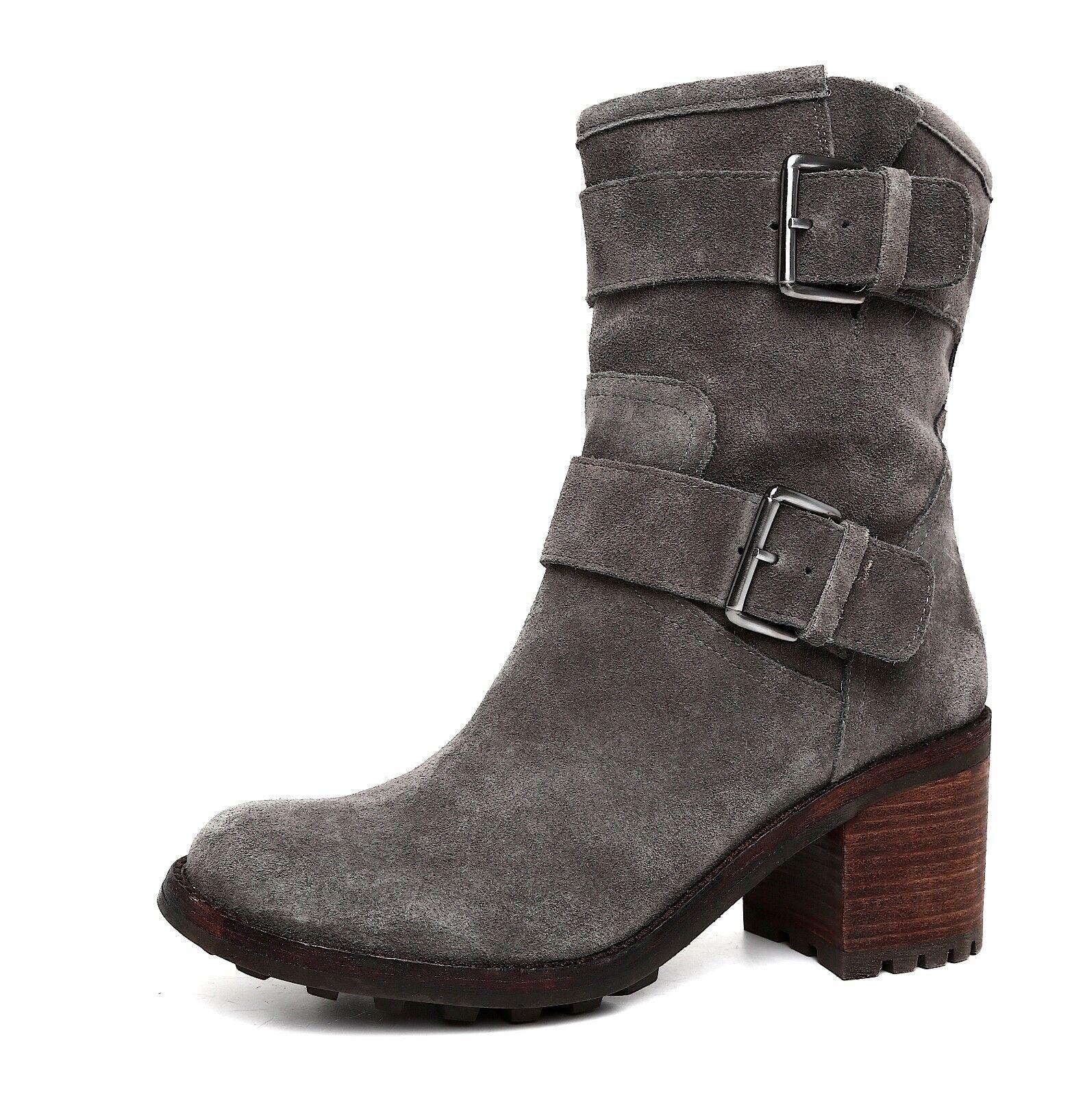 Sam Edelman Troy Suede Ankle Boots Grey Women Women Women Sz 8.5 M 5744  500794