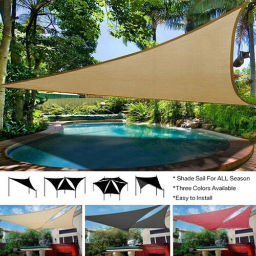 Sun Shade Sail Garden Patio Swimming Pool Awning Canopy Sunscreen UV Outdoor/_vi