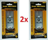 Lot Of 1x Or 2x Retractable Metal Scraper W/ 5 Extra Single Blades Glass Paint