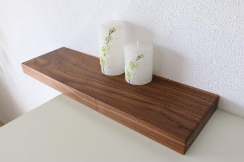 auf Maß Wandboard Nussbaum Massiv Holz Board Regal Steckboard Regalbrett NEU au