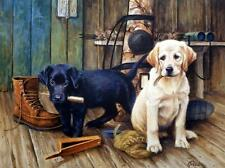 James Killen Breaktime II Lab Puppy Print-24 x 18