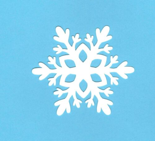 "Winter die cut #3 10 pcs. Snowflake die cuts 3/"" x 3.5/"" Snowflake page decor"
