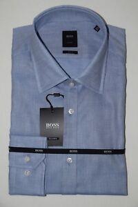 HUGO-BOSS-TAILORED-BUSINESSHEMD-Mod-T-Shane-Gr-42-Slim-Fit-Bright-Blue
