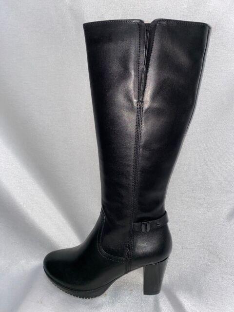 Tamaris Damen Langschaft Stiefel 1 25536 21 001 Schwarz Leder US6,5 Gr.37 Neu OV