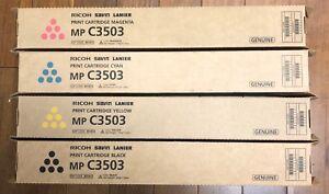 GENUINE-OEM-Ricoh-Savin-Lanier-TONER-SET-4PK-MP-C3503-C3003-PRINT-CARTRIDGES