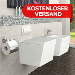 wandh ngend h nge toilette keramik weiss wc bidet ginger set ebay. Black Bedroom Furniture Sets. Home Design Ideas