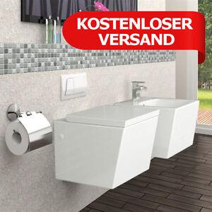 wandh ngend h nge toilette keramik weiss wc bidet ginger set ebay. Black Bedroom Furniture Sets. Home Design Ideas