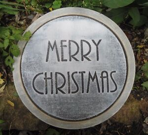 """Christmas holiday stepping stone plastic mold 12"""" x 1.5"""" thick"""