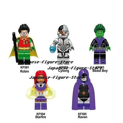 New Rare Minifigure Custom Lego Beast Boy New Version Collection DC Titan Movies