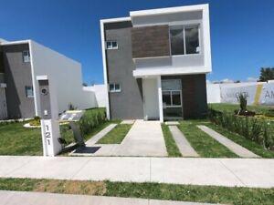 MADEL- SAGARA Casa nueva en venta al sur poniente de Aguascalientes, por rancho santa Monica:)