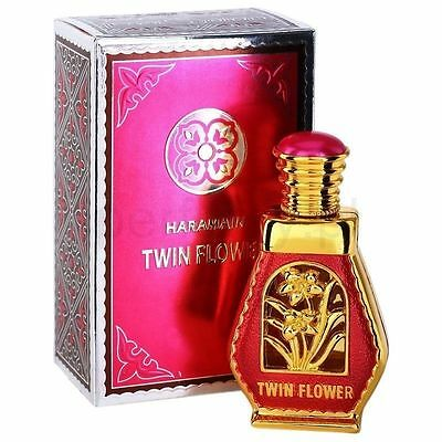 Twin Flower Rosy Jasmine White Musky Ambery Perfume Oil 15ml by Al Haramain