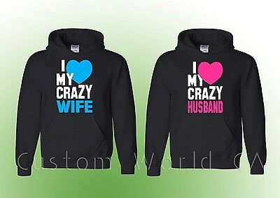 Husband and Wife Hoodie Sweatshirt I Love my Wife Hoodie