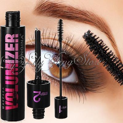 Fashion Women Long Curling Eyelash Black Fiber Volume Mascara Eye Lashes Makeup