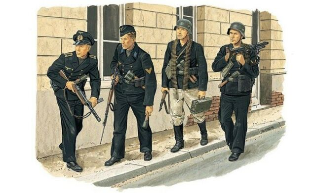 Dragon 6087 - 1/35 WWII Ensemble de Figurines Allemand Naval Troupes - Dieppe
