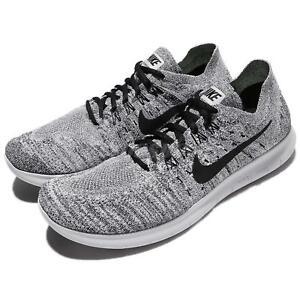 2437bb379e9e0 Nike Free RN Run Flyknit 2017 Running Shoes White   Black
