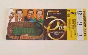 1979 Notre Dame vs Michigan State Football Ticket Stub. | eBay