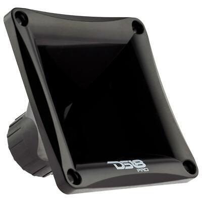 DS18 Car Audio Tweeter 1 Inch Twist On Plastic Horn Mid Range DJ PRO-H110//BK
