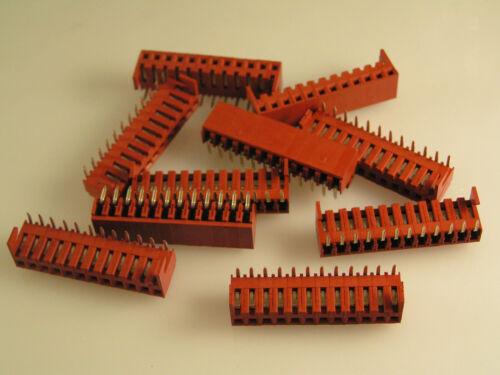 """PCB Sil Zócalo encabezado ángulo Recto 12 vías 20 forma 10 piezas EB2 2.54mm 0.1/"""""""