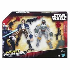 Star Wars Hero Mashers Han Solo Vs Boba Fett Battle Pack - Brand New