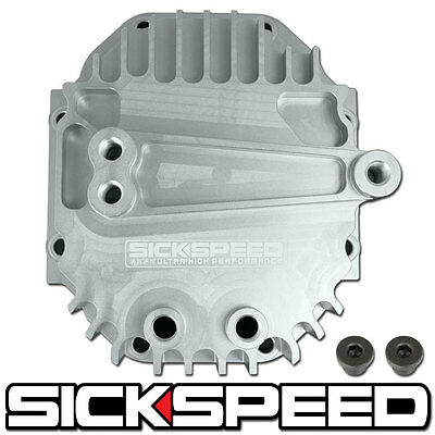 SICKSPEED POLISHED REAR DIFFERENTIAL HIGH VOLUME CAPACITY COVER BILLET ALUMINUM