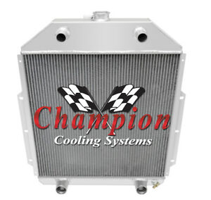 1942-1952 Ford Truck Ford V8 Config Champion Quality 3 Row Aluminum Radiator