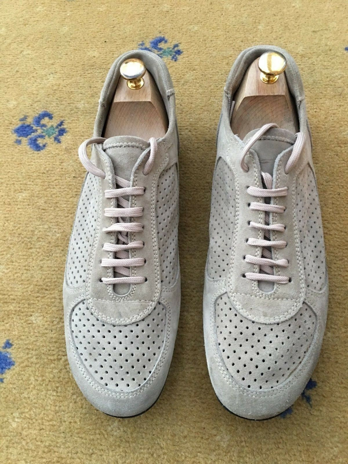 Miu Miu de Prada homme beige en Daim Baskets Baskets Chaussures UK 10 US 11 EU 44
