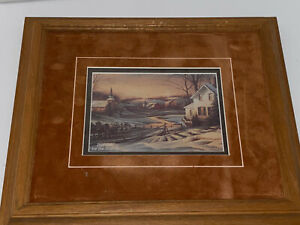 Terry Redlin Together For The Season Double Mat Framed Art Print Courage Cards Ebay