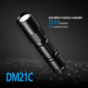 IMALENT DM21C Cree XHP35 HI 2000lm USB Rechargeable 18650 LED Torch