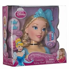 Toy Disney Cinderella Princess Hair Styling Head With 14 Pieces Set New Boxed
