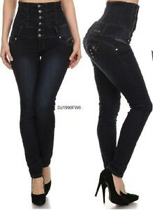 Colombian levanta cola high waist stretch butt lift skinny - Diva pants ebay ...