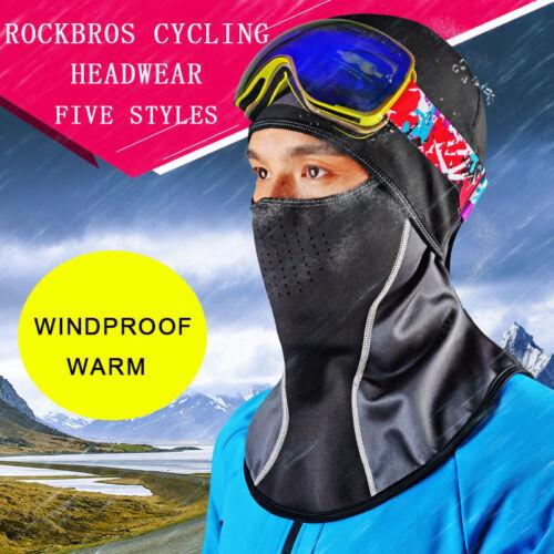 RockBros Winter Cycling Windproof Warm Hood Bike Face Mask Fleece Scarf Cap