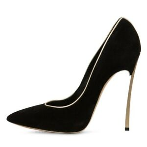 Women-Super-Slim-High-Heels-Slip-On-Suede-Pumps-Pointed-Toe-Party-Club-Shoes-Sz